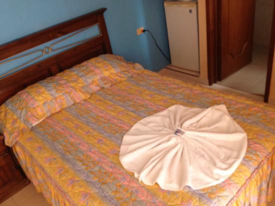 Francis Arlene Hotel: Old bedspread