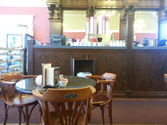 Lovely old-time bar inside sweet sweets shop and eatery in Kamiah, Idaho