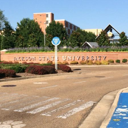 Jackson State University: JSU Campus Front Entrance - HBCU Jackson MS