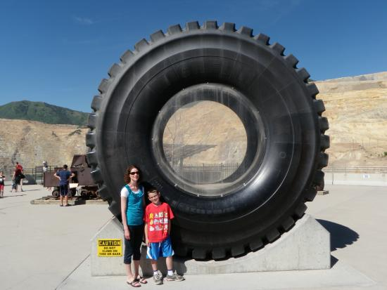 Bingham Canyon, UT: One of the truck tires.