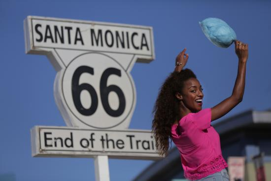 Santa Monica, CA: Historic End of the Route 66 Sign on the Pier
