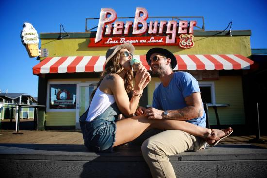 Beachside eats at PierBurger on the Santa Monica Pier