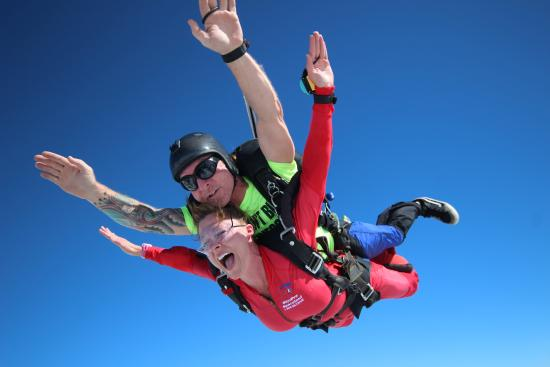 Skydive Spaceland Atlanta: If you can't breathe in freefall, just yell! :)