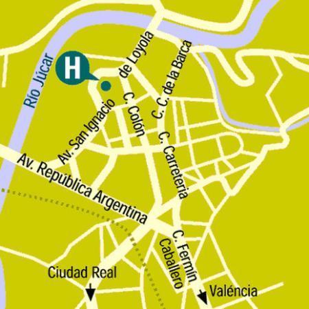 Torremangana Hotel: Map