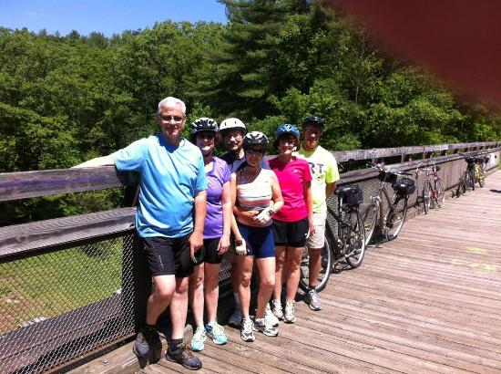 Biking the Allegheny Trail in Franklin, PA