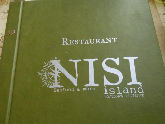 Restaurant NISI Island : Your menu