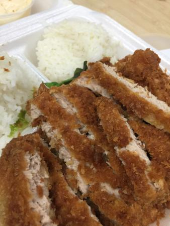 Fresh Catch: Poke selection is great lots to choose from. Furikake ahi Katsu with sauce on the side, Furikake