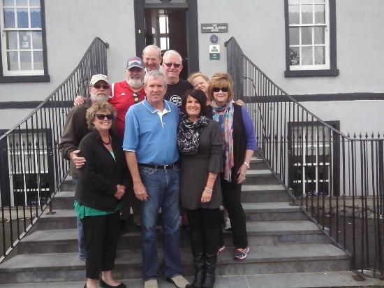 The Harbour Masters House: Group in Front of Harbour Master House