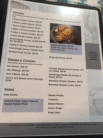 Riverside, AL: Menu2