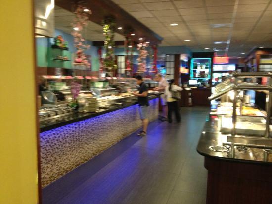 Jing Du Japanese Buffet: an inside view of the Sushi buffet