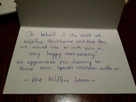 Wildfire North York : Greeting card from the team. Thank you