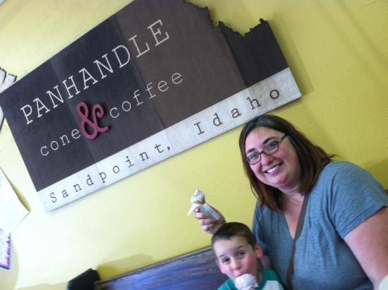 Sandpoint, ID: Enjoying cool ice cream on a warm day