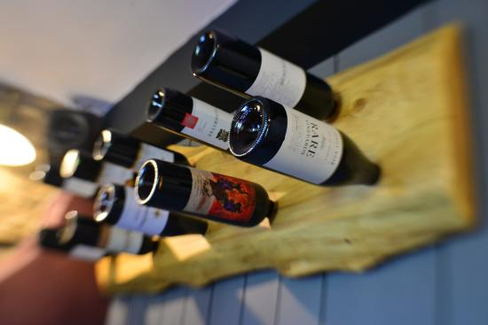 Sun Inn: Wine rack supplied from local joiner Chris Taylforth