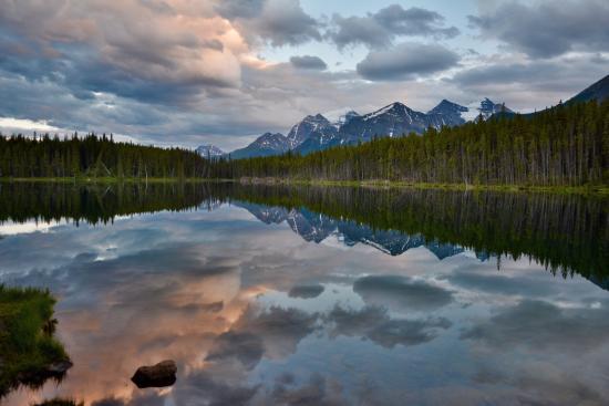Sunset at Herbert Lake