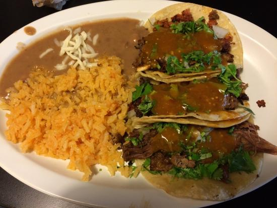 Jose's Authentic Mexican Restaurant: Taco platter