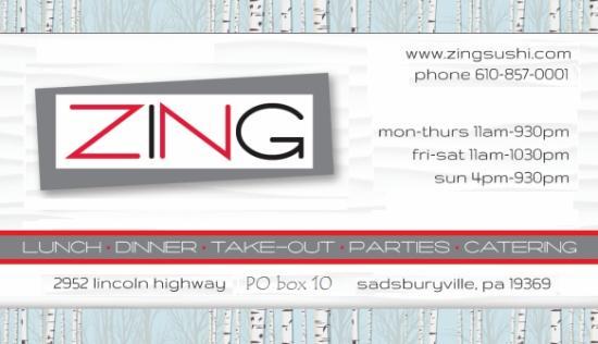 Sadsburyville, PA: ZING