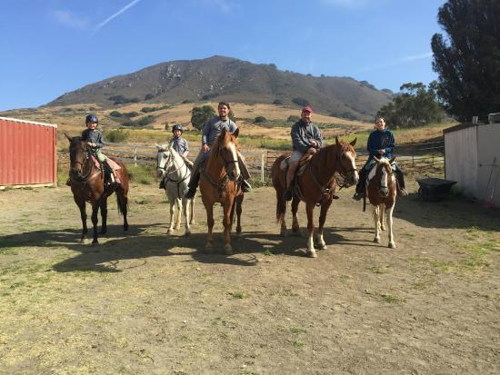 Madonna Inn Trail Rides: Newly initiated horse riders!