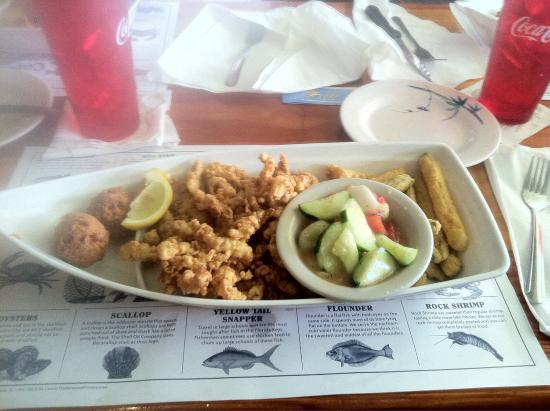 Captain Eddie's Seafood Bar: Clam Strips and Gulf Oysters!