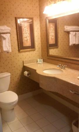 Comfort Inn & Suites: general view of the restroom in Dbl Queen bed rm