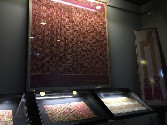 Museo Amano: 織物の展示がメインです