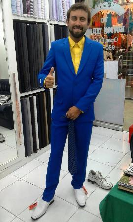 Royal blue slim fit suit - Picture of Harry's Fashion House Custom ...