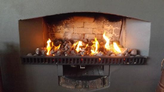 The Esplanade Hotel: Relax in front of the roaring fire