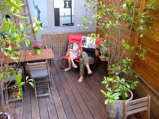 Hotel 7 Art: Terrasse Hotel 7Art