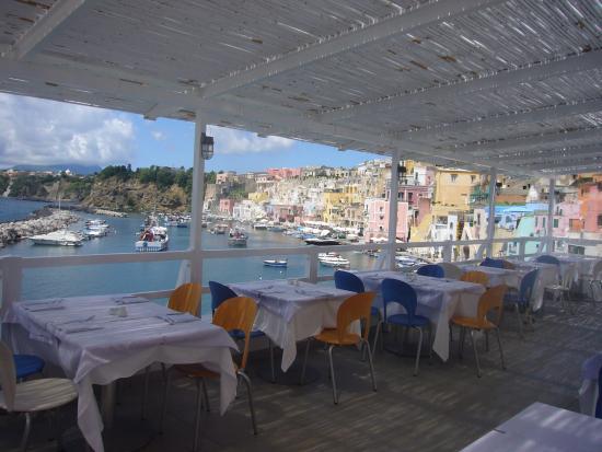 Panorama dal ristorante - marina di corricella - Picture of La ...