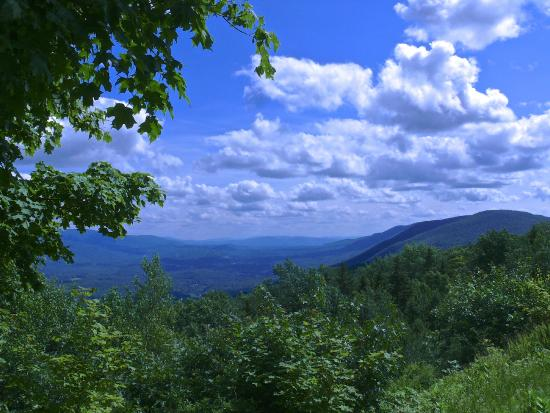 Mount Equinox: A view of the valley below halfway up the mountain.
