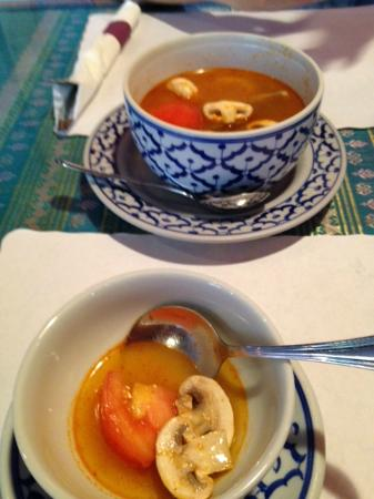 Thai Orchid Cuisine: Ton Yum soup, sort of too spicy for me.