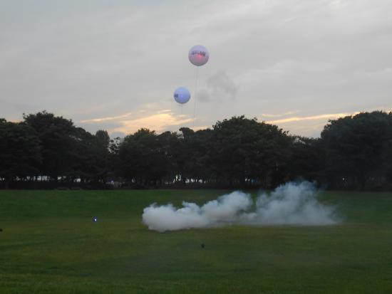 Yumenoshima Park : イベントの1つとして気球があがりました