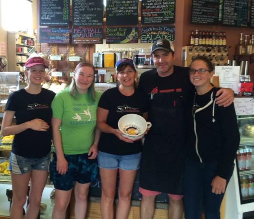 Backstreet Bagel Company: Celebrating the completion our first year as new owners!
