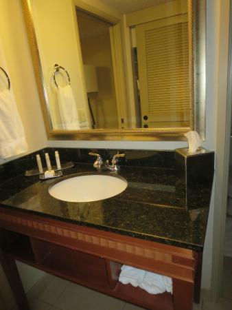 DoubleTree Suites by Hilton Hotel Seattle Airport - Southcenter: nice vanity outside bathroom
