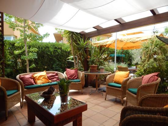 Casa Dos Torres: Rear terrace