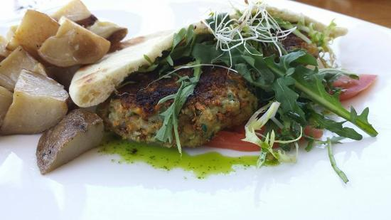 Cascade Coffeehouse and Cafe: Falafal with duck fat roasted potatoes.