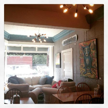 Cascade Coffeehouse and Cafe : New lights, new couch, new tables, new color.
