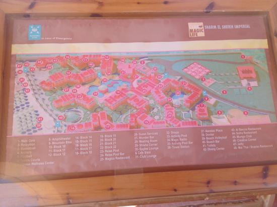 Club Magic Life Sharm el Sheikh Imperial: Map of the hotel