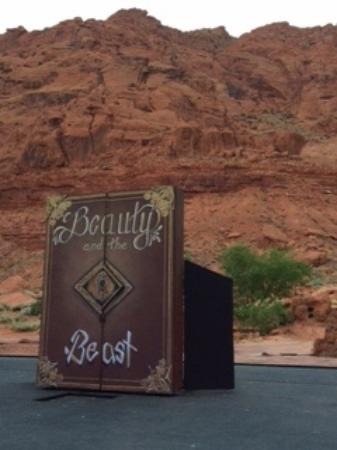 Stage Setting For Beauty And The Beast Picture Of Tuacahn Amphitheatre Ivins Tripadvisor