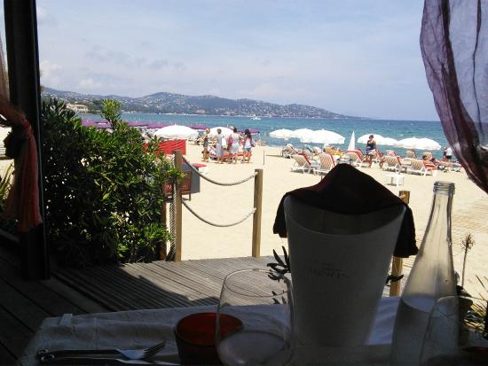 Mahi-Plage : View from your table