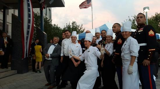 Rixos President Astana Hotel: Fantastic and motivated catering team of Rixos President Astana.  Here at the 29th independence