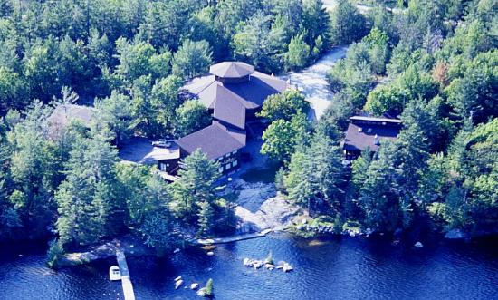Arial photograph of the gallery– on beautiful Lower Buckhorn Lake