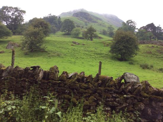 Thorney How: View out of the front door, onto Helm Cragg