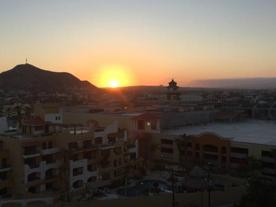 Hacienda Beach Club & Residences: Sunset view from rear balcony