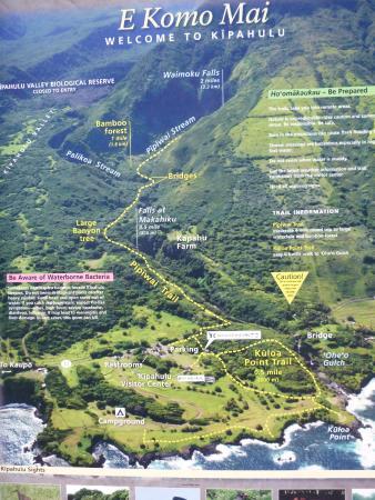 Ohe'o Gulch: Map of both trails