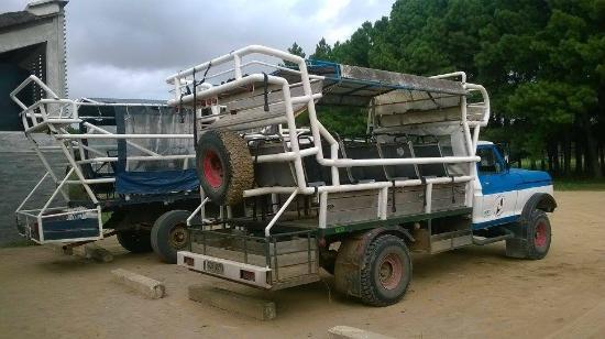Transporte para chegar as prais de Cabo Polonio