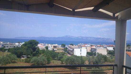 Anemos Studios : Pogled sa terase apartmana 16