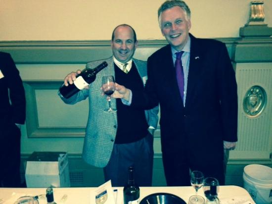 Virginia Wineworks: Michael Shaps with Virginia Governor Terry McAuliffe