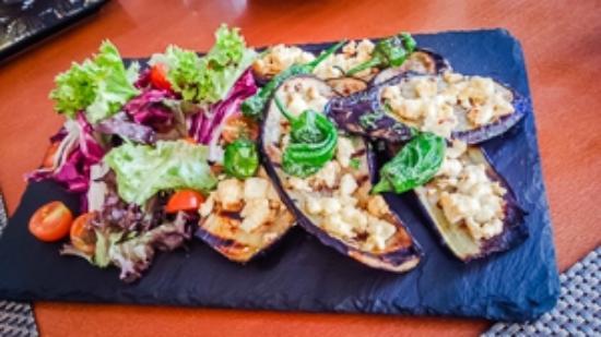 Crazy Chef: aubergine with feta