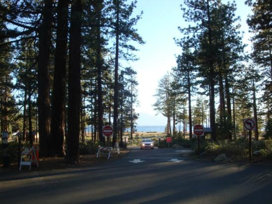 Nevada Beach Entry To Campground Parking Lot