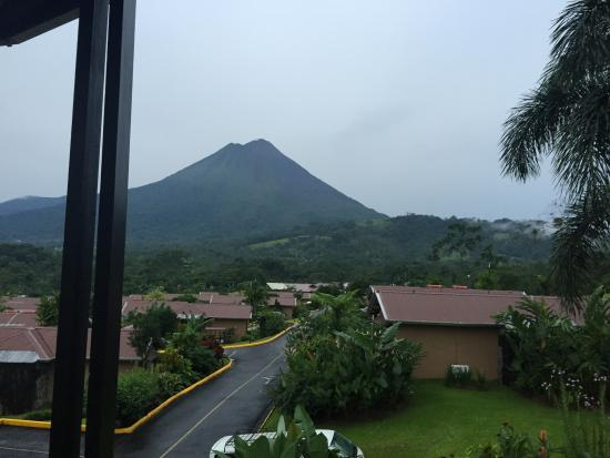 View looking at the Arenal Volcano, from Balcony
